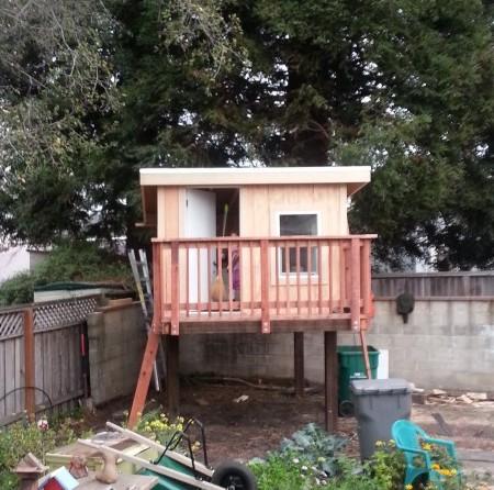 stilt house mostly done